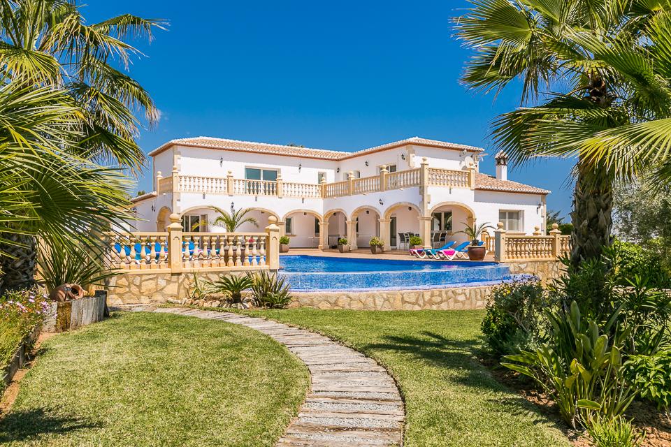 javea villa rentals entrance