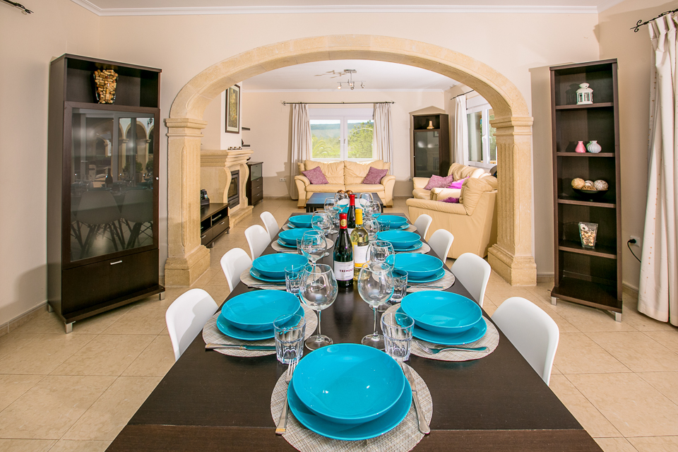 javea spain private holiday villa dining room behind living room