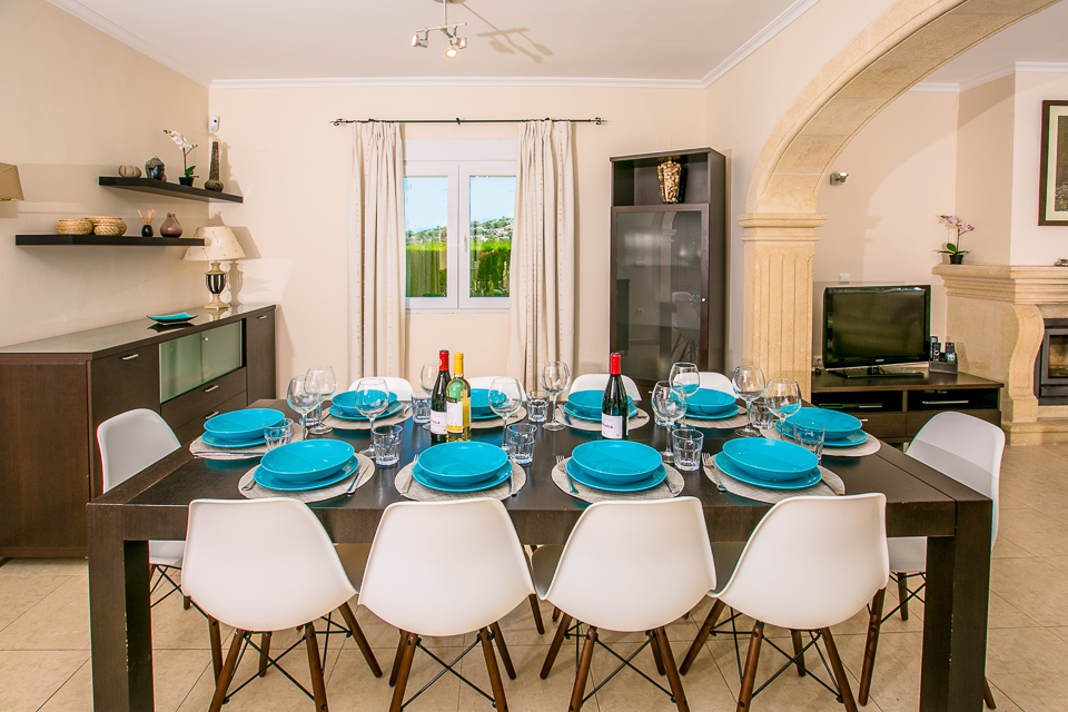 javea spain private holiday villa dining table