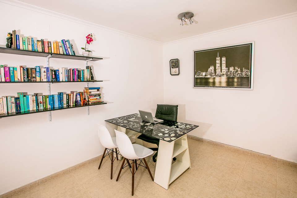 javea spain holiday rentals study room with table & laptop